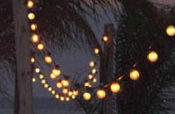 hung string lighting