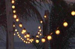 hung string lighting
