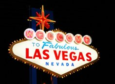 Las Vegas backlit sign